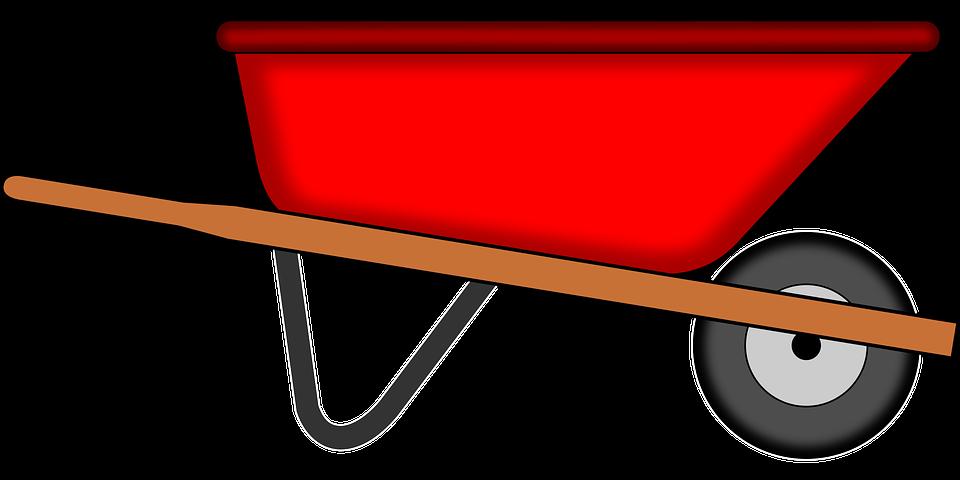 Wheelbarrow Tools Gardening Red Work