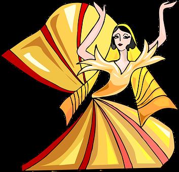抽象, 色彩缤纷, 漫画人物, 舞蹈, 舞蹈家, 跳舞, 连衣裙, 女孩, 夫人