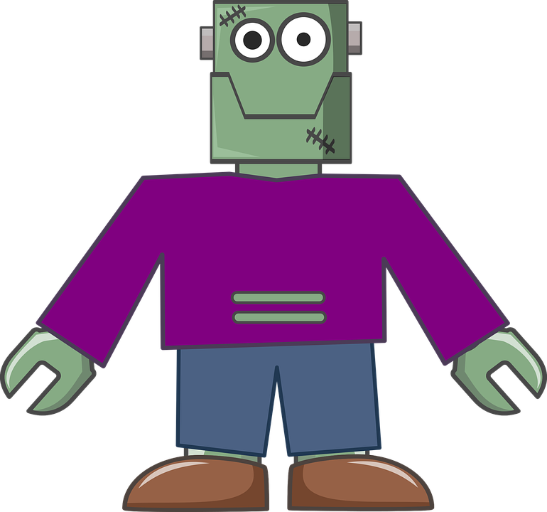 Body Cute Frankenstein Free Vector Graphic On Pixabay
