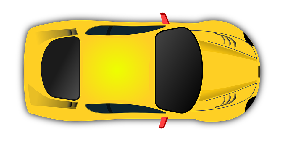 Race Car Vector Top