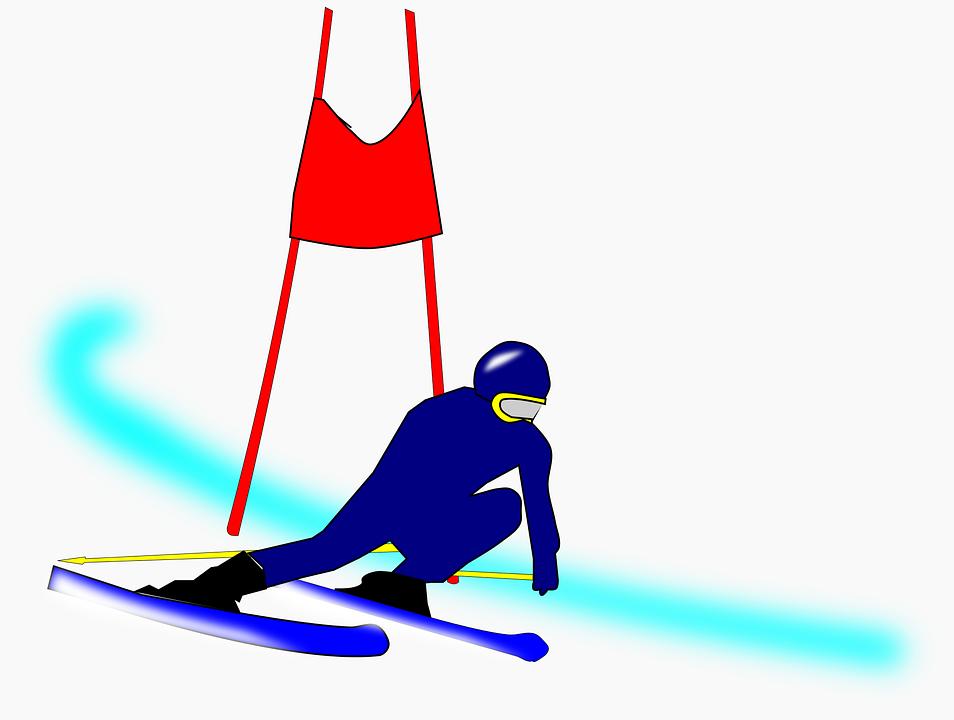 Competition Ski Slalom - Free vector graphic on Pixabay