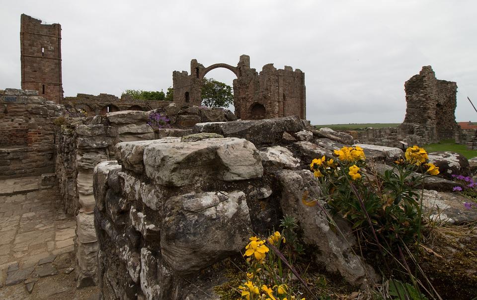 Lindisfarne, Lindisfarne Priory, Priorado, Ilha, Santo