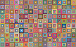 retro, squares, abstract