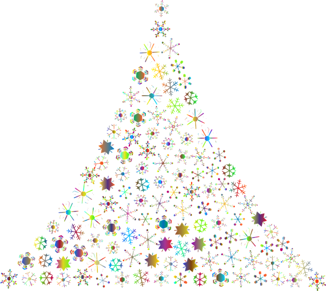 Snowflakes Abstract Christmas Tree 183 Free Vector Graphic