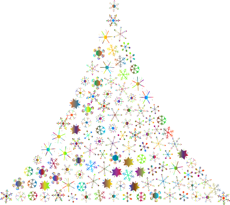 Snowflakes Abstract Christmas Tree Free Vector Graphic On Pixabay