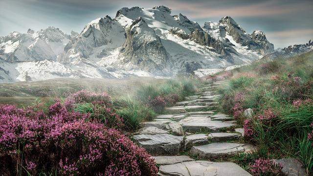 山の風景, 山, 風景, Steinweg, 自然, 登山, ハイキング, 山のピーク, 高山, 牧草地