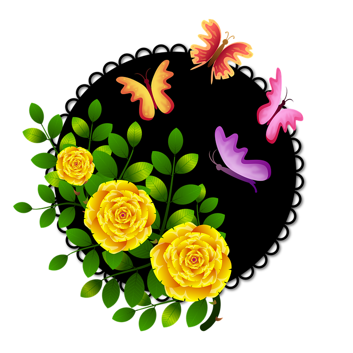 roses butterflies flowers 183 free image on pixabay