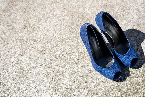 Shoes Wedding Blue High Heels