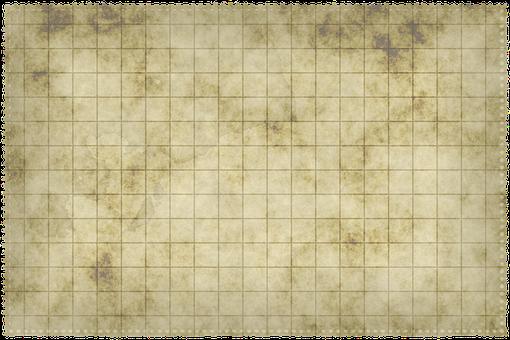 Paper Grid Parchment Frame Worn File