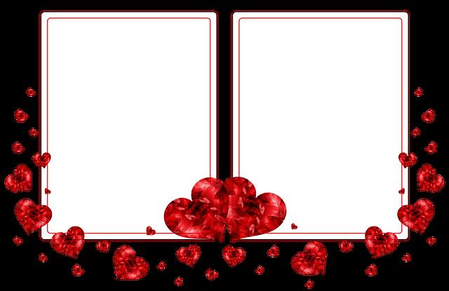 Cartao De Amor Para Photoshop: Postcard Frame Photo · Free Image On Pixabay