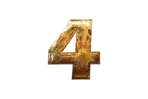The figute 4 written in golden letters to signify the four parties of affiliate marketing