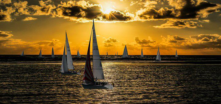 Nature, Landscape, Lake, Sea, Sail