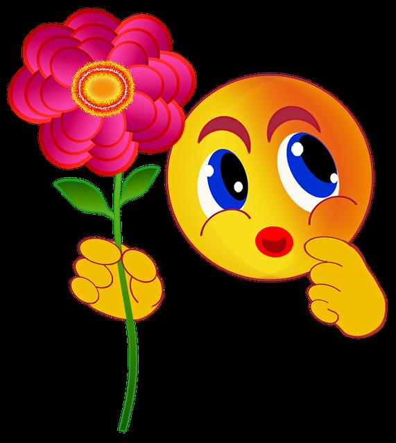emoticons smiley flower free image on pixabay