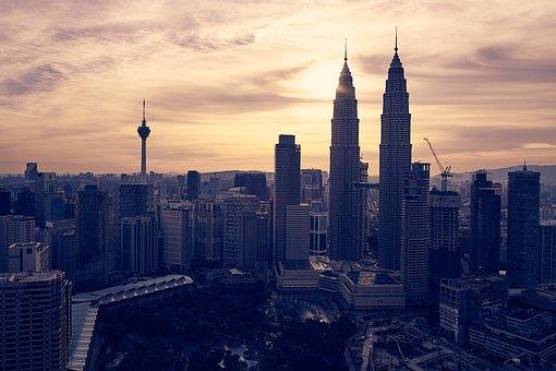 Malaysia, Kuala Lumpur, Sunset, Klcc