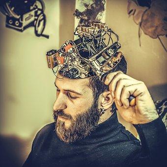 機械, 脳, 男, マシン, 操作, 機械, 脳, 脳, 脳, 脳, 脳