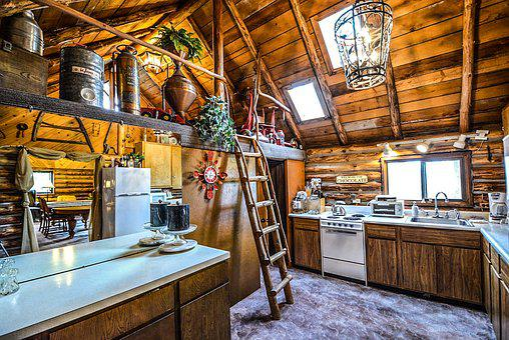 Log, Cabin, Rustic, Home, Interior