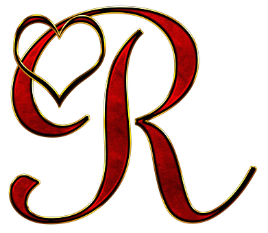 R Alphabet In Heart Letter R Images ·...