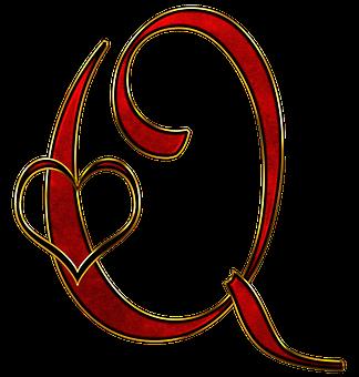 Alphabet, Letter, Initial, Heart