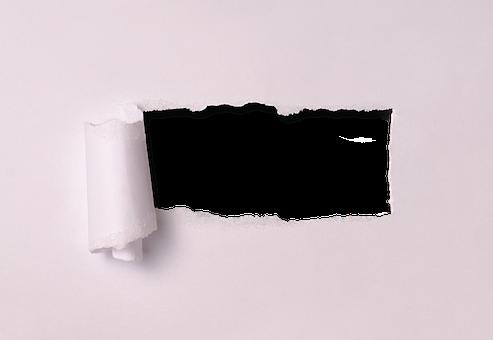 Ripped Paper Torn Through Broken Tran