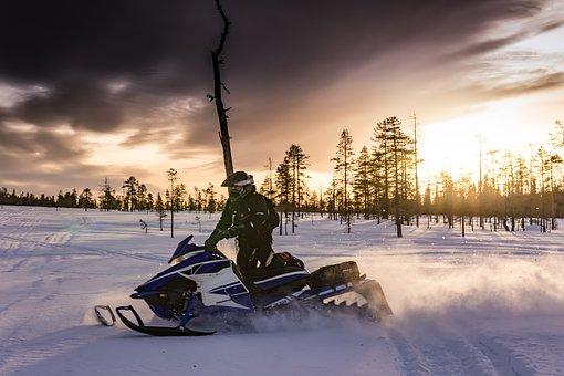Motoneiges, Laponie, Motoneige, Suède