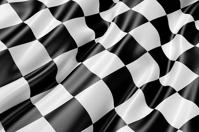 Race Track Flag, Flag, Black And White, Finish, Speed