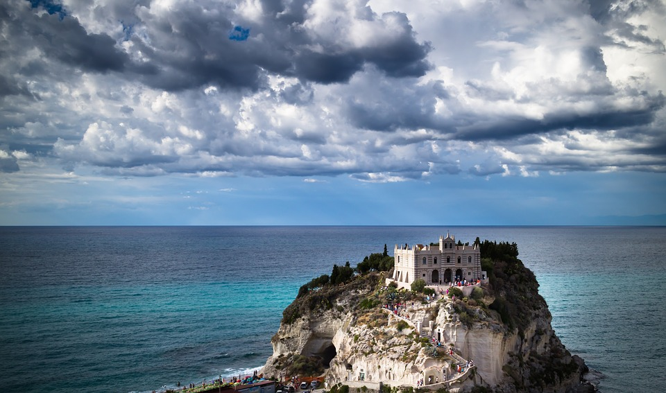 Tropea, Calabria, Italia, Monumento, Estate, Mare