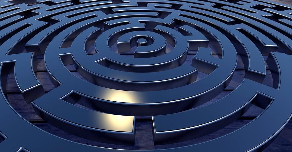 Labyrint, Puzzel, Doolhof, Doel, Weg, Conceptie