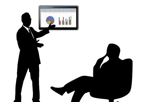 会議, ビジネス, 営業会議, 人, オフィス, シルエット