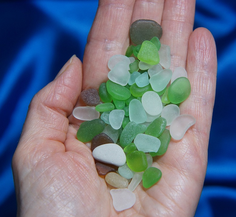 Beach Glass, Glass, Beach, Ocean, Sea, Nature, Worn