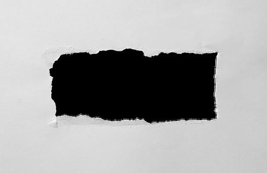 Hole Torn Paper Through Rectangle Rec