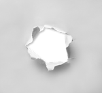 hole, torn, paper
