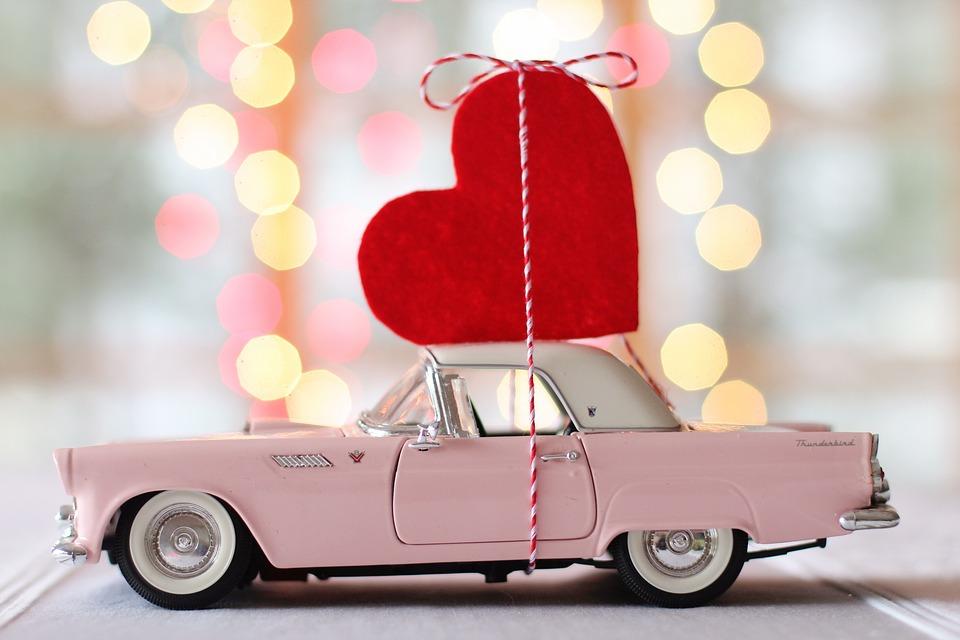 Bil, Auto, Valentinsdag, Hjerte, Thunderbird, Vintage