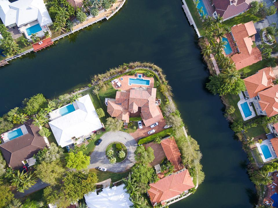 Aerial image of house