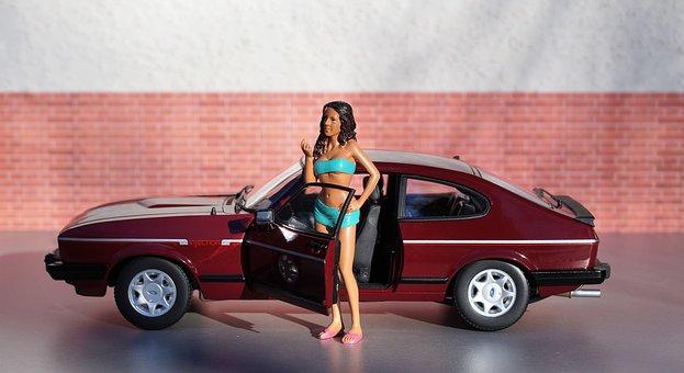 model car ford capri model diorama