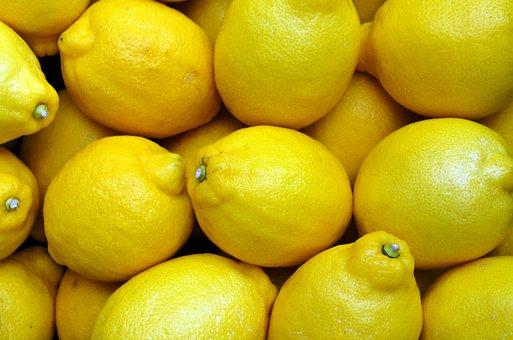 Zitronen, Gelb, Lebensmittel, Obst