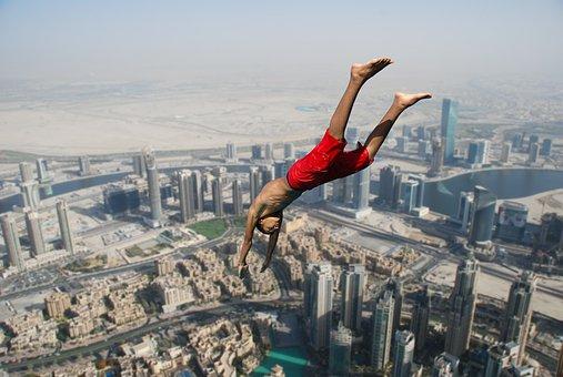 ディープに突入します。, ジャンプ, 秋, 落ちる, 高さ, 無料の場合