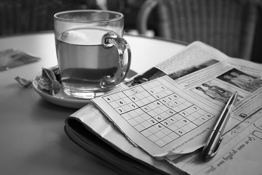 Relaxation, Sudoku, Tea, Puzzle