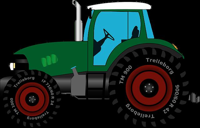 kostenlose vektorgrafik traktor schlepper trecker