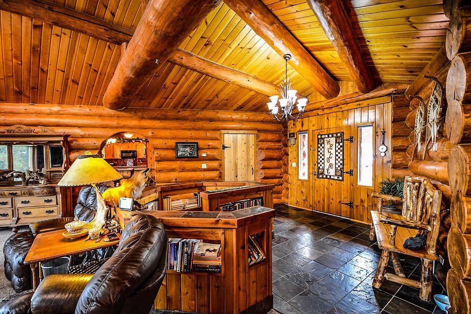 Log, Home, Cabin, Interior, Beans Part 67