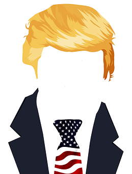 Trump, Président, États Unis, Drapeau
