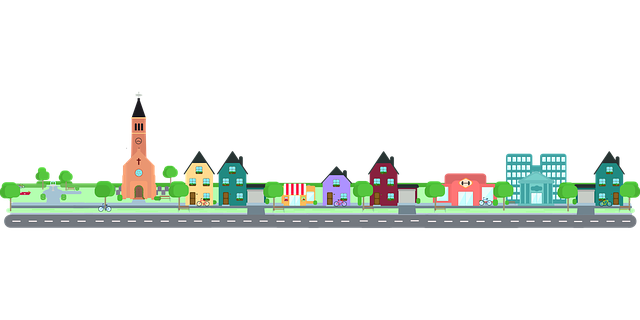 Free Vector Graphic City Road Community Building