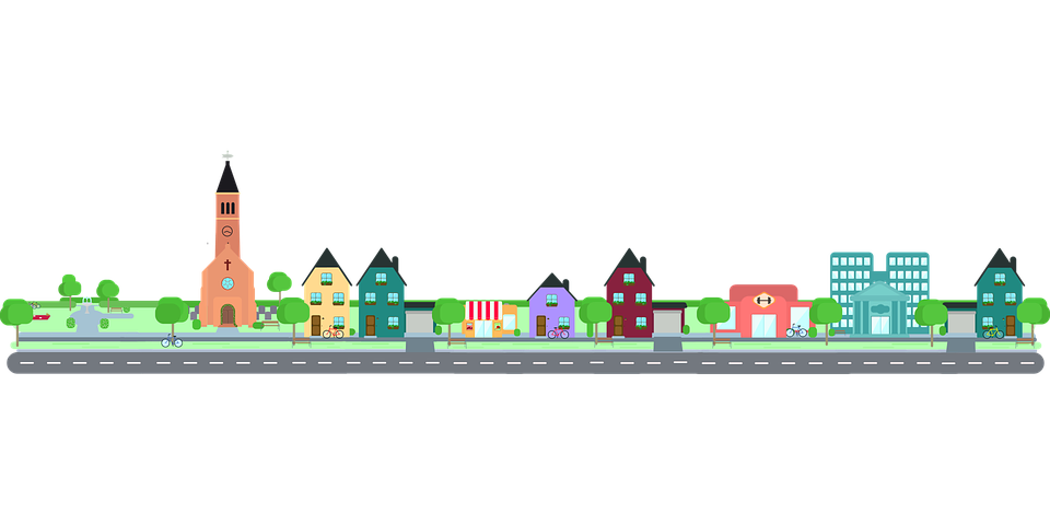Free vector graphic: City, Road, Community, Building ...