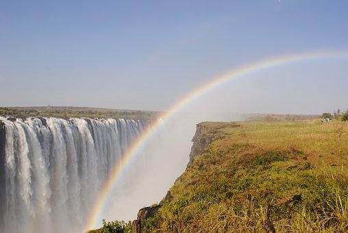 ビクトリアの滝, 滝, ザンベジ川, アフリカ, ジンバブエ
