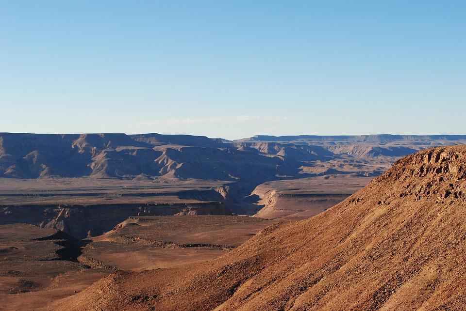 Fish River Canyon, Namibia, Rock, Gorge, Africa, Wide