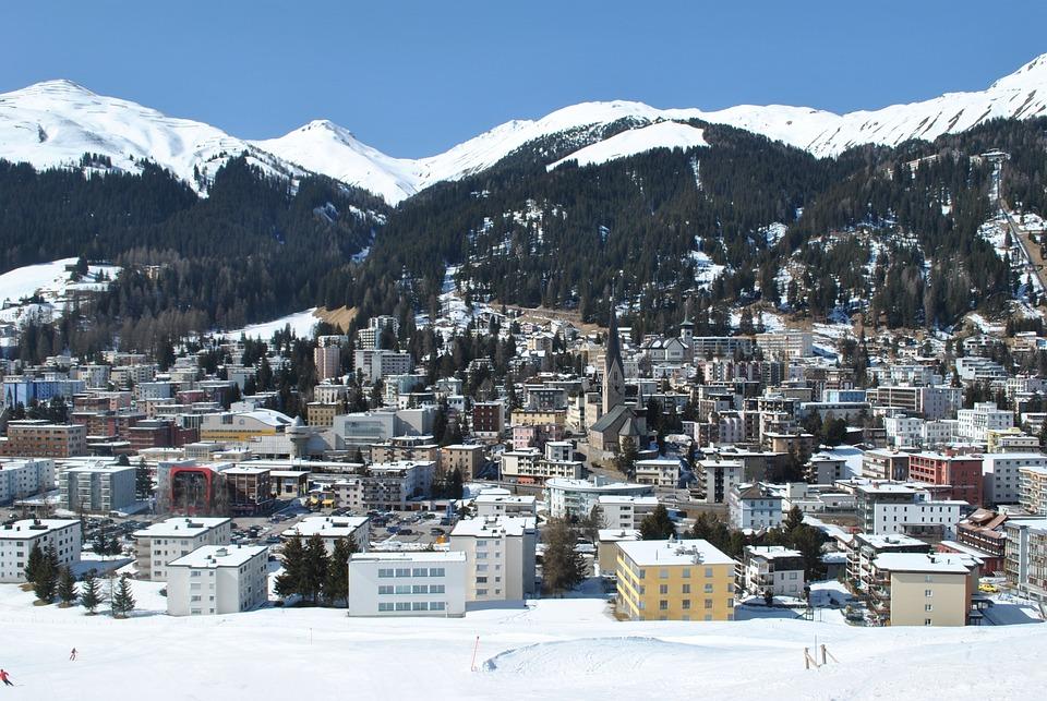 Davos, Switzerland, Alpine, City, Winter