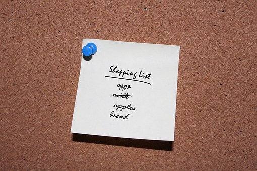 Shopping List Post It Grocery List Note Re