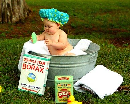 アンティーク, お風呂, 赤ちゃん, 盆地, 洗濯, 入浴, 子, アウトドア