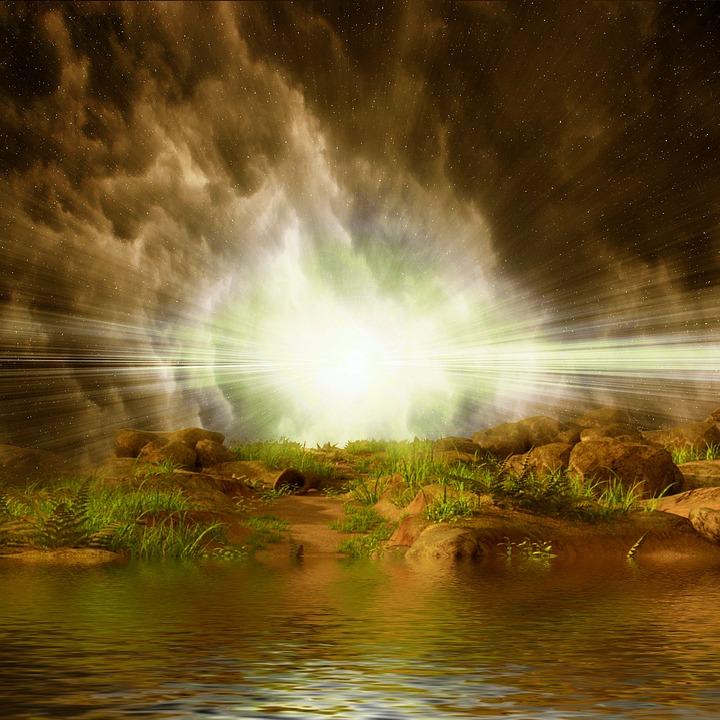 Landschaft, Wasser, Wasserloch, Himmel, Natur, Fluss
