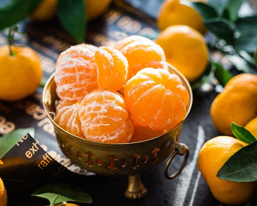 Mandarini, Frutta, Agrumi, Luce Del Sole, Cibo