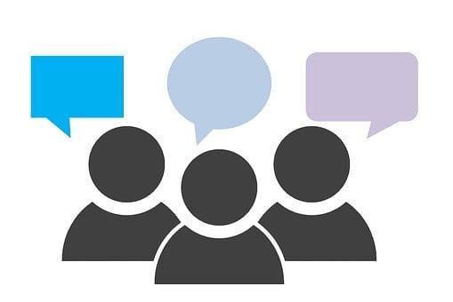フィードバック, グループ, 通信, 意見, レビュー, 評価, チーム